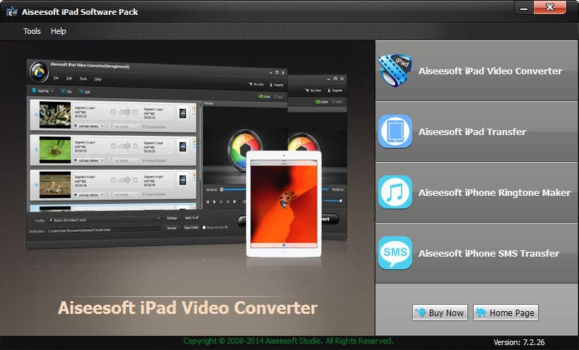 Click to view Aiseesoft iPad Software Pack screenshots