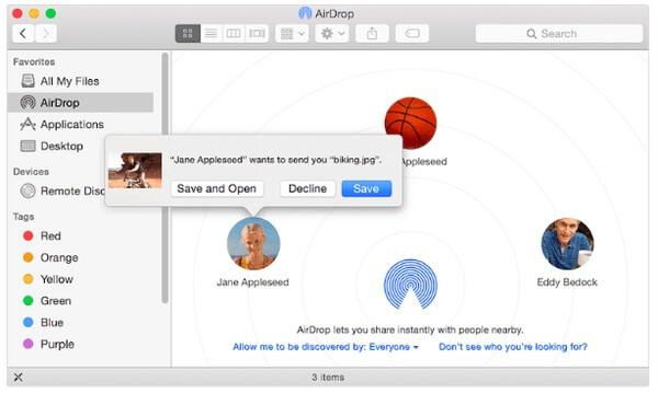 Przesyłaj pliki iPada za pomocą AirDrop