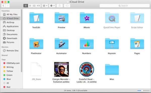 Przenieś pliki iPada za pomocą iCloud Drive