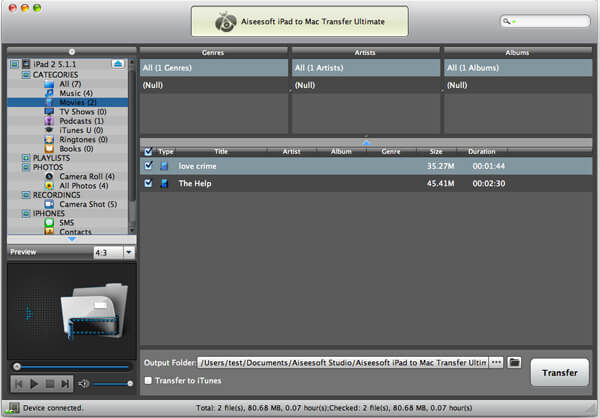how to add movies from imac to ipad