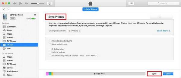 Sincronizzare i file con iTunes
