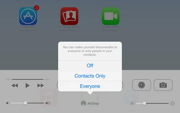 Zapněte iPad AirDrop
