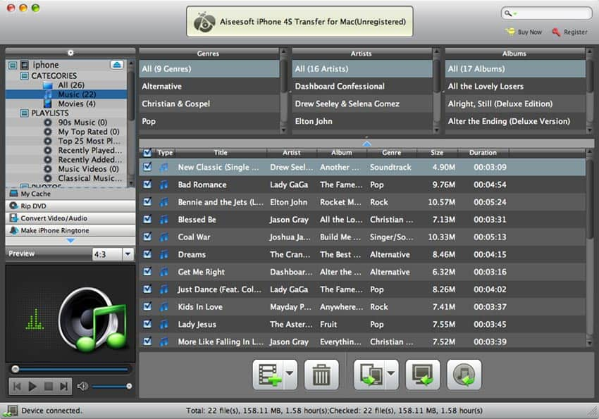 Aiseesoft iPhone 4S Transfer for Mac