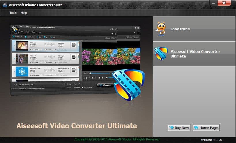 Click to view Aiseesoft iPhone Converter Suite screenshots