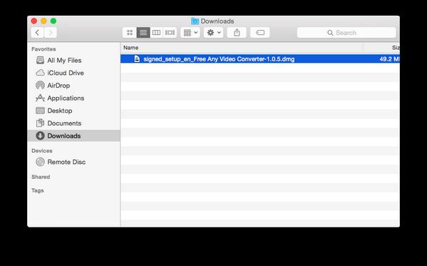 Elimina i download direttamente dal Mac