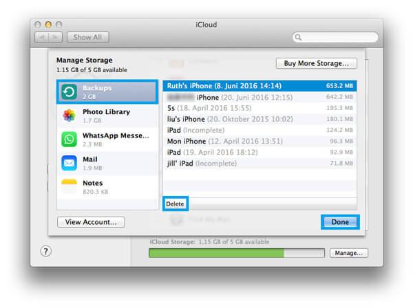 Usuń iCloud Backup na Macu