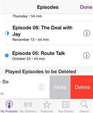How to Free Up Storage on iPhone - delete podcast voicemail