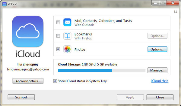 Access iCloud photos from iCloud Photo stream