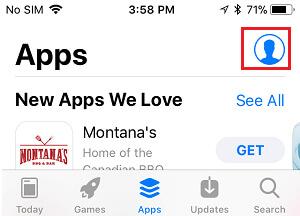 Ikona konta w App Store