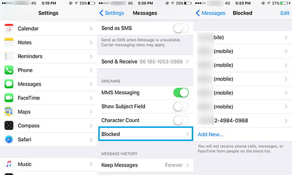unknown message not found iphone how to block text messages sms on iphone 18125