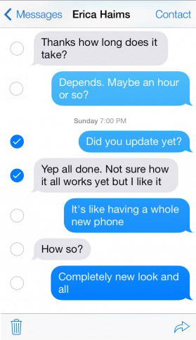 How to Delete Text Messages in iOS 7