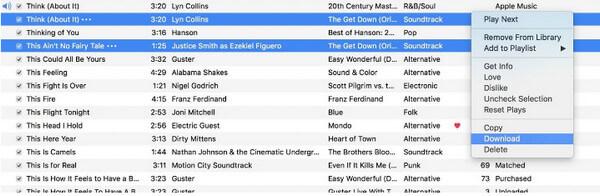 λήψη μουσικής από το iCloud σε Mac