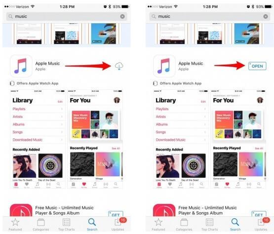 Znajdź usuniętą aplikację muzyczną
