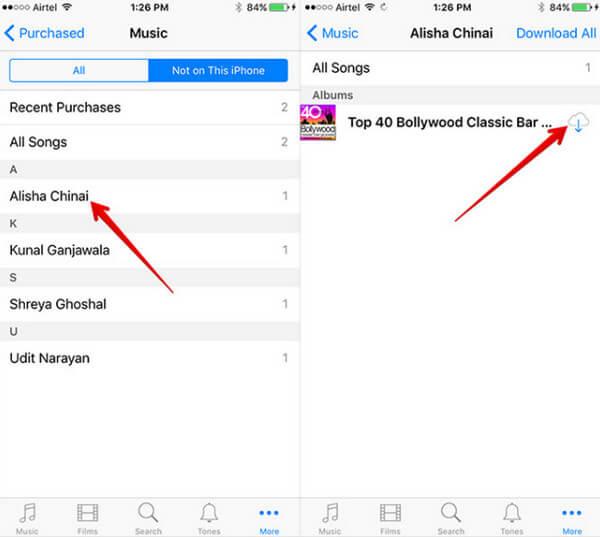 κατεβάστε μουσική iCloud στο iPhone / iPod / iPad σας