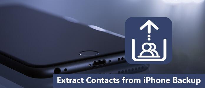 Εξαγωγή επαφών από το iPhone Backup