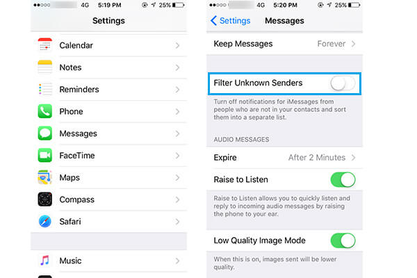 unknown message not found iphone how to block text messages sms on iphone 1936