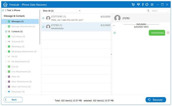 Visualizza i messaggi di testo eliminati nel backup