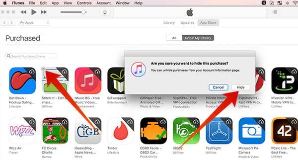 Come nascondere Elimina app da iCloud