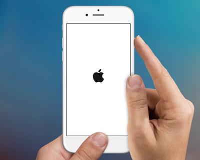 iPhone nalepený na Apple Logo Fix