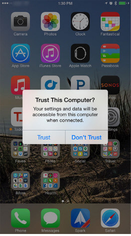 how to detect iphone in itunes