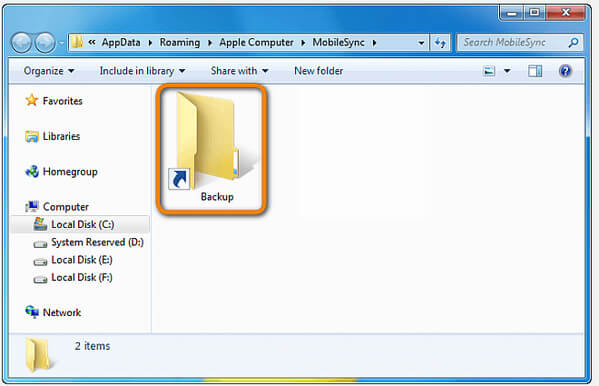 C Utwórz skrót do kopii zapasowej iTunes