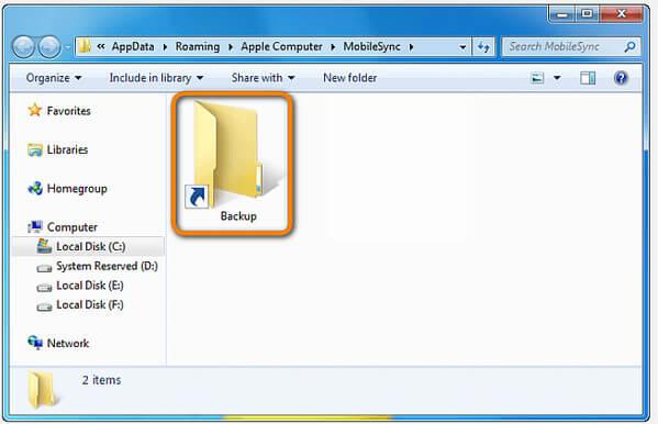 Ctreate iTunes Backup Shortcut