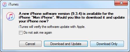 Ενημέρωση λογισμικού για μηνύματα iTunes για iPhone