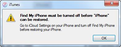 Messaggio iTunes quando i contatti iPhone scompaiono