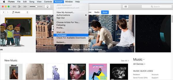 iTunes acquistato