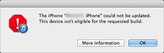 iPhone nie będzie przywracał po jailbreaku