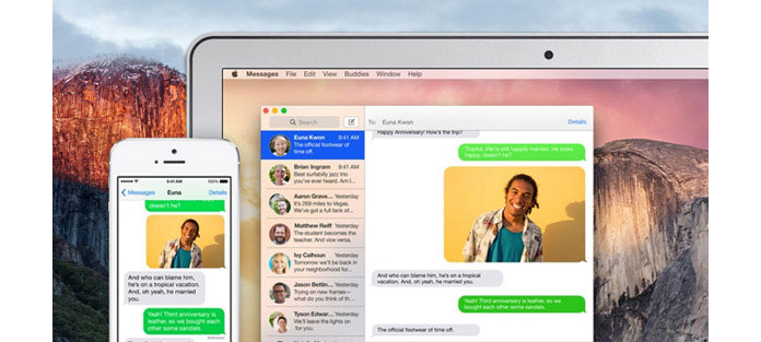 sync messages from iphone to mac el capitan