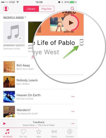 Offline Apple Music dla innych danych