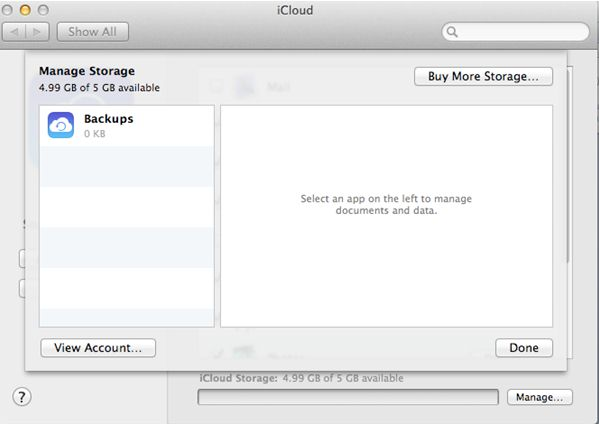 Purchase More iCloud Storage on Mac