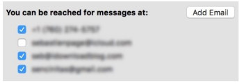 Controlla iMessage Email su Mac