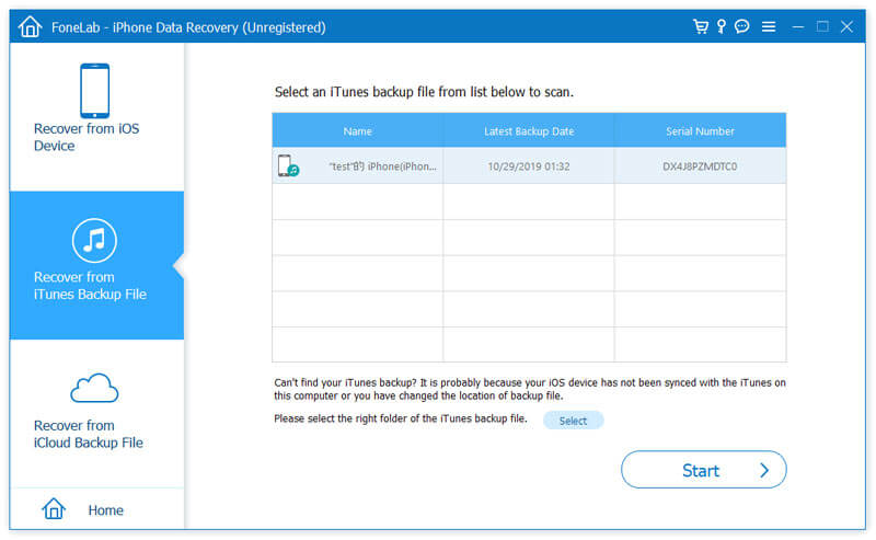 Recover from iTunes Backup Files