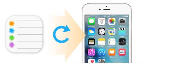 Obnovte iPhone připomenutí s FoneLab