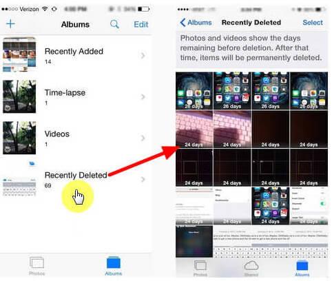 Odzyskaj ostatnio usunięte zdjęcia iPhone'a