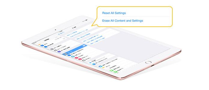 Ripristina iPad alle impostazioni di fabbrica