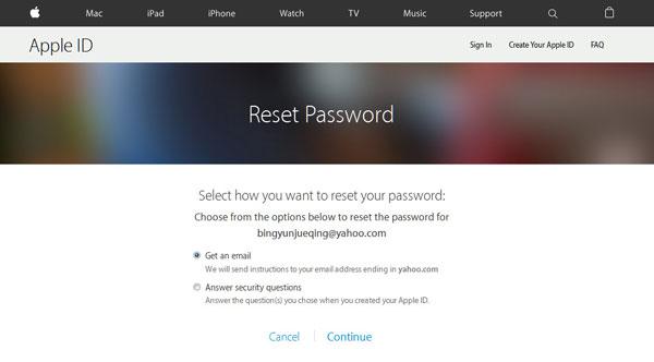 Obnovte ID aplikace iTunes
