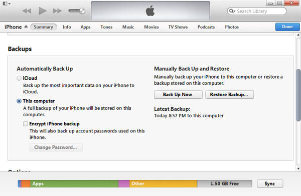 how to set up iphone from itunes backup