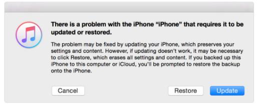 Ripristina iOS senza password tramite la modalità di recupero