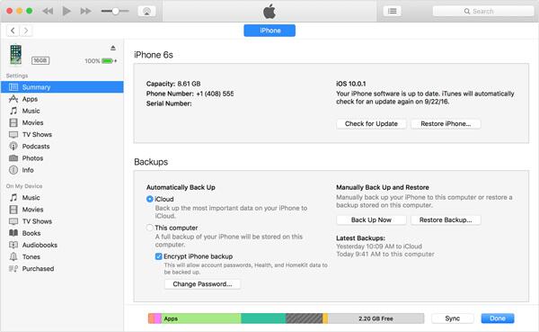 Messaggio di testo non cancellato con iTunes