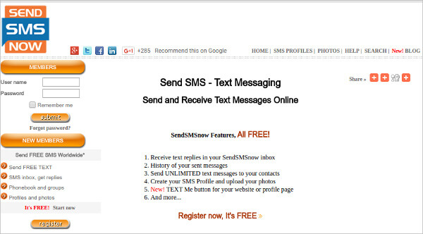 how to send an sms from germany to canada