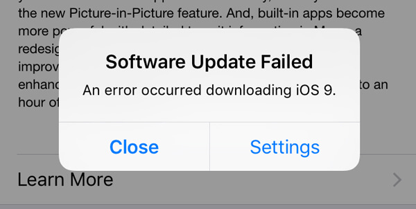 Updating iphone software problems