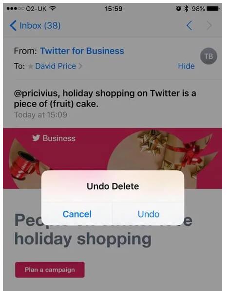 Ανάκτηση διαγραμμένων μηνυμάτων στο iPhone με αναίρεση
