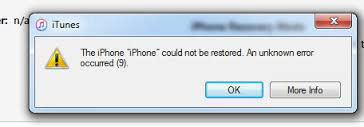 iPhone Won't Restore from iTunes