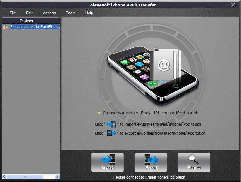 Click to view Aiseesoft iPhone ePub Transfer screenshots