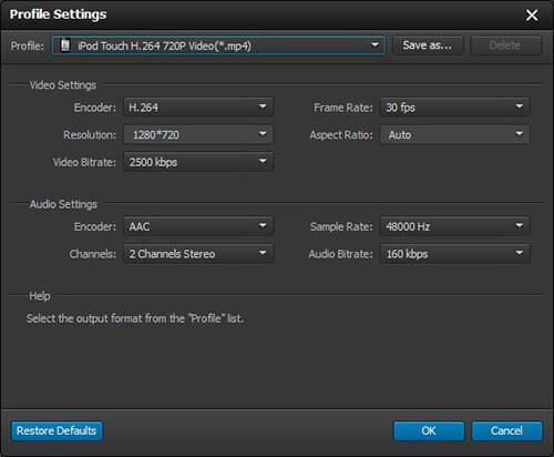 Settings video win