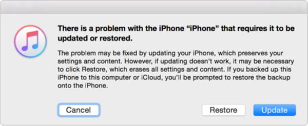 Wyjdź z trybu odzyskiwania iPhone'a z iTunes