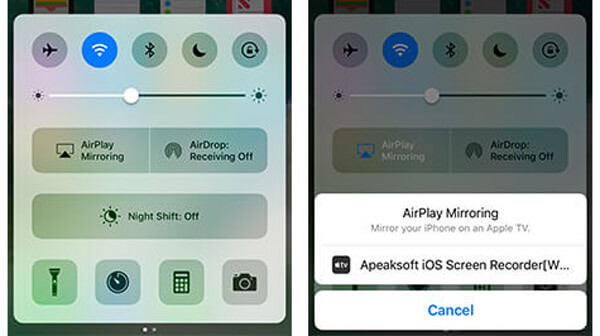 Registra lo schermo dell'iPhone in iOS 10